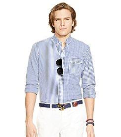 Polo Ralph Lauren® Men's Long Sleeve Mixed Media Button Down Shirt
