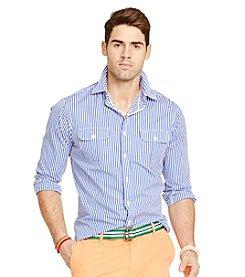Polo Ralph Lauren® Men's Long Sleeve Striped 2-Pocket Button Down