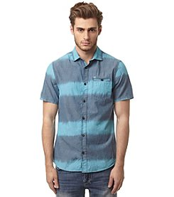 Buffalo by David Bitton Men's Short Sleeve Ikat Pocket Button Down