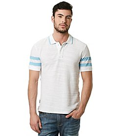 Buffalo by David Bitton Men's Short Sleeve Textured Slub Polo