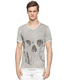 Calvin Klein Jeans Men's Exploded Skull V-Neck Tee