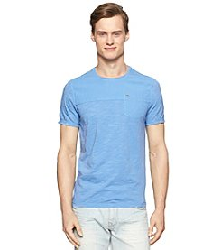 Calvin Klein Jeans Men's Mixed Media Garment Dye Pocket Tee