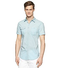 Calvin Klein Jeans Men's Garment Dye Flap Pocket Button Down