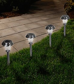 Pure Garden LED Solar Powered Classic Glass Pathway Light