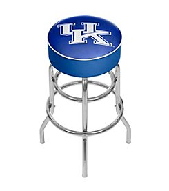 University of Kentucky Chrome Bar Stool with Swivel - Wordmark