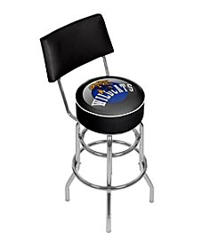 NCAA® University of Kentucky Swivel Bar Stool with Back - Honeycomb