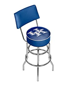 NCAA® University of Kentucky Swivel Bar Stool with Back - Reflection