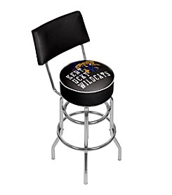 NCAA® University of Kentucky Swivel Bar Stool with Back - Smoke