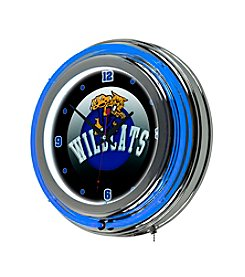 NCAA® University of Kentucky Chrome Double Rung Neon Clock - Honeycomb