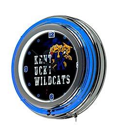NCAA® University of Kentucky Chrome Double Rung Neon Clock - Smoke