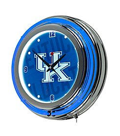 NCAA® University of Kentucky Chrome Double Rung Neon Clock - Wordmark