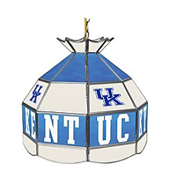 University of Kentucky Tiffany Lamp - White Lettering