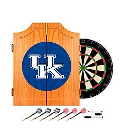 NCAA® University of Kentucky Wood Dart Cabinet Set - Fade
