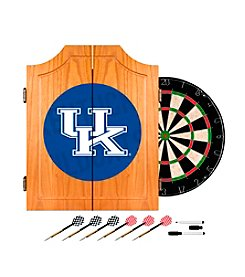 NCAA® University of Kentucky Wood Dart Cabinet Set - Wordmark