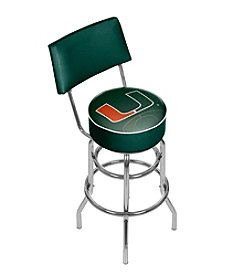 University of Miami Bar Stool with back - Reflection