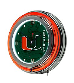 NCAA® University of Miami Neon Clock