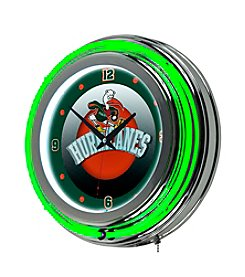 NCAA® University of Miami Neon Clock - Honeycomb