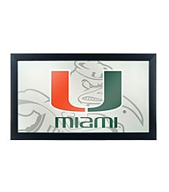 University of Miami Fade Framed Logo Mirror