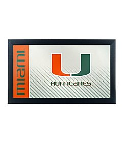 University of Miami Text Framed Logo Mirror