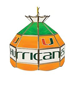 Trademark Global NCAA® University of Miami Hurricanes Tiffany Pendant Lamp