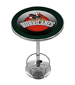 NCAA® University of Miami Pub Table - Honeycomb