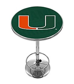NCAA® University of Miami Chrome Pub Table