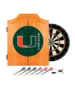 University of Miami Dart Cabinet Set - Fade
