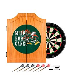 University of Miami Dart Cabinet Set - Smoke