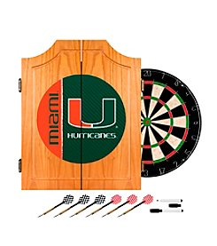 University of Miami Text Dart Cabinet Set