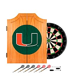 University of Miami Dart Cabinet Set - Wordmark