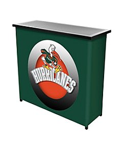 NCAA® University of Miami Portable Bar - Honeycomb