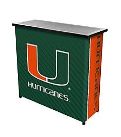 University of Miami Text Portable Bar