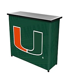University of Miami Portable Bar - Wordmark