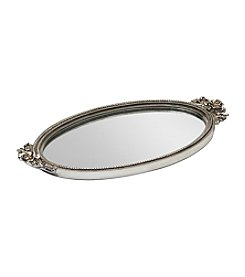 Taymor® Silver Antique Rose Mirror Tray