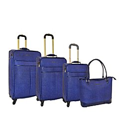 Adrienne Vittadini® Stingray Faux Leather 4-pc. Luggage Set