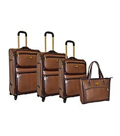 Adrienne Vittadini® Croco Faux Leather 4-pc. Luggage Set