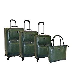 Adrienne Vittadini® Faux Snake Embossed 4-pc. Luggage Set