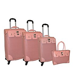 Adrienne Vittadini® Paris Textured Faux Leather 4-pc. Luggage Set