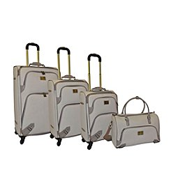 Adrienne Vittadini® Faux Leather 4-pc. Luggage Set