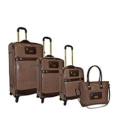 Adrienne Vittadini® Embossed Faux Leather 4-pc. Luggage Set