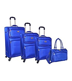 Adrienne Vittadini® Riding High 1680 Denier with Croco 4-pc. Luggage Set