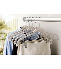 Simplify 6-Pack Velvet Suit Hanger with Clips