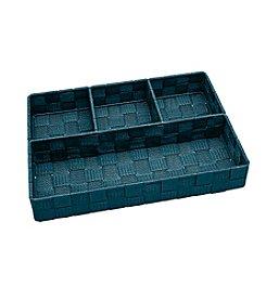 Simplify 4-Compartment Woven Strap Drawer Organizer