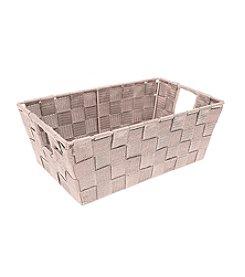 Simplify Blush Woven Strap Shelf Tote