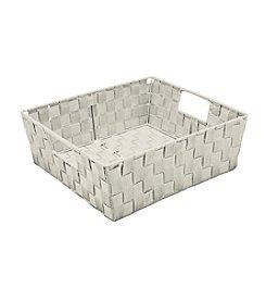 Simplify Sand Woven Strap Shelf Tote