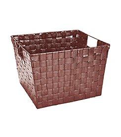 Simplify Bronze Shining Woven Strap Storage Tote