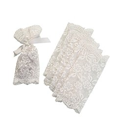 Lillian Rose® Set of Six Ivory Lace Favor Bags