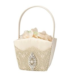 Lillian Rose® Gold Lace Flower Basket