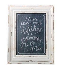Lillian Rose® Black Wishes Framed Sign