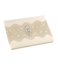 Lillian Rose® Gold Lace Guest Book